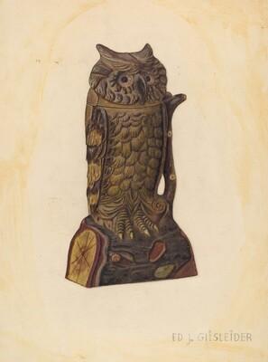 Mechanical Penny Bank: Owl