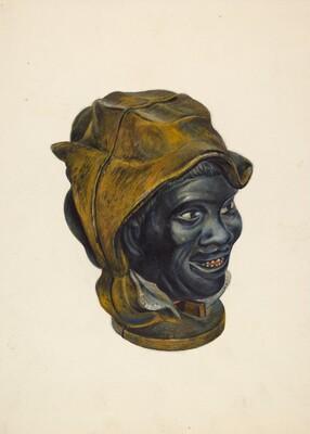 Toy Bank: Negro Boy Head