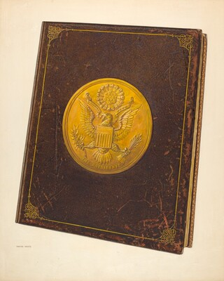 Book with U.S. Seal on Cover