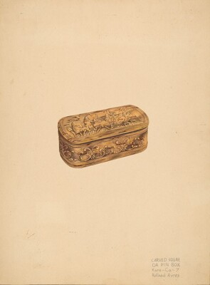 Carved Storage or Pin Box