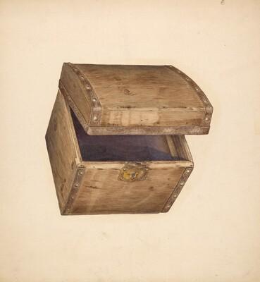 Hat Box - Wood