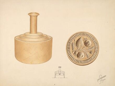 Butter Mold - Burr Design