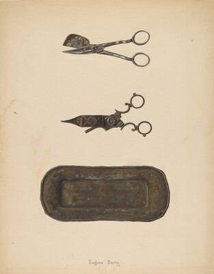 Candle Snuffer, Trimmer & Tray