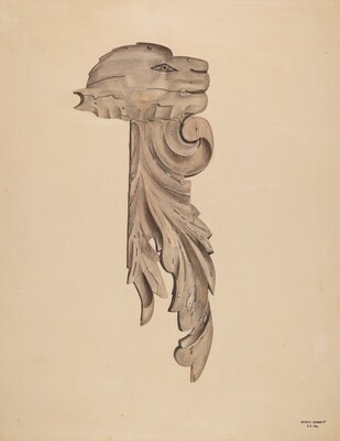 Wood Carving - Profile Face