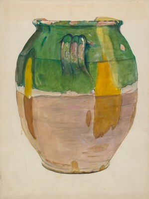 Clay Flower Jar
