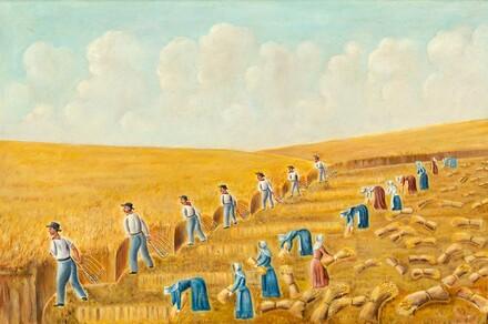 Harvesting with Grain Cradles