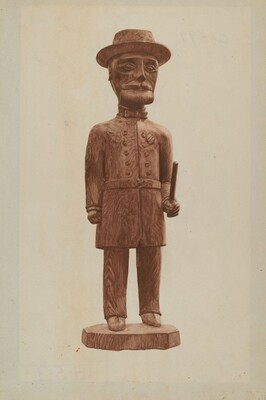 Carved Policeman
