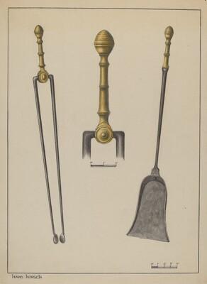 Fire Tongs and Shovel