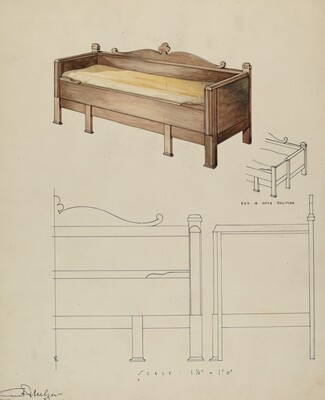 Settee and Folding Bed
