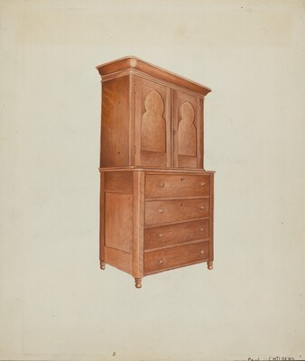Shaker Cherry Cabinet with Drawers