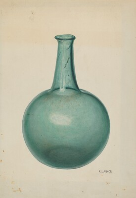 Blue-green Flask