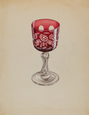 Ruby Case-Glass Goblet