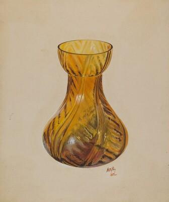 Amber Jar (Blown)