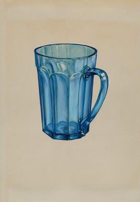 Blue Beer Mug