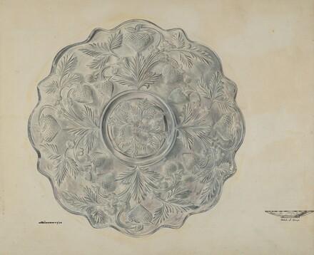 Strawberry Design Plate
