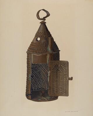 Perforated Tin Lantern
