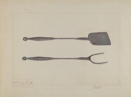 Griddlecake Turner and Fork