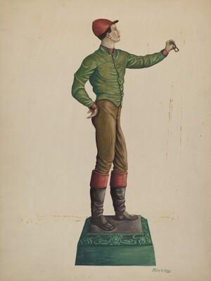 Cast Iron Jockey Hitching Post