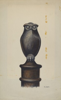 Cast Iron Owl Hitching Post