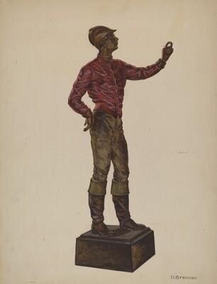 Cast Iron Dobbie: Jockey