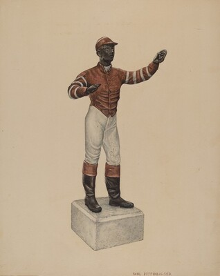 Cast Iron Dobbie: Jockey