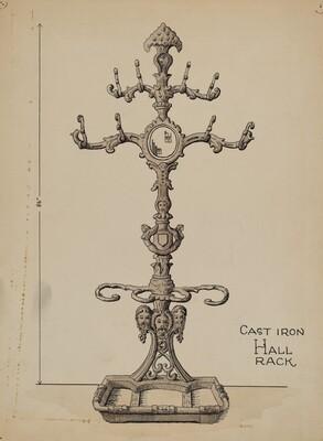 Cast Iron Hat Rack