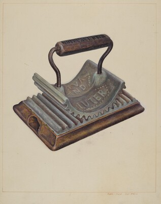 Hand Fluting Iron
