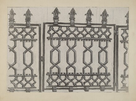 Cast Iron Rail and Gate