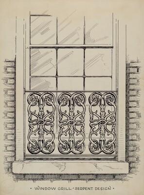 Cast Iron Window Grill