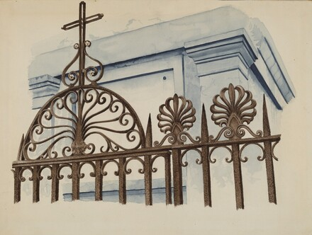 Cast and Wrought Iron Ornament