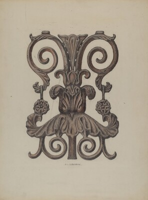 Section of Cast Iron Balcony