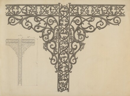 Iron Porch Supports
