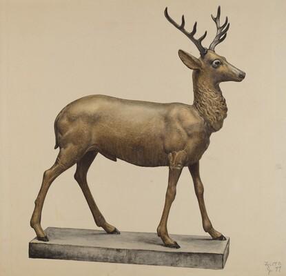 Deer Lawn Figure