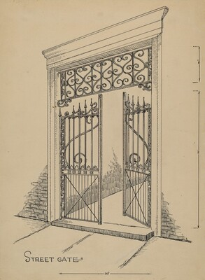 Wrought and Cast Iron Gate