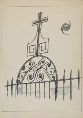 Iron Cross - Gate Ornament