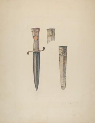 Silver Dagger and Sheath