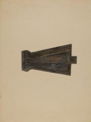 Wrought Iron Latch Lock