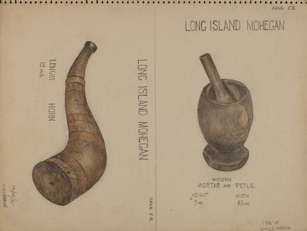Horn and Mortar & Pestle