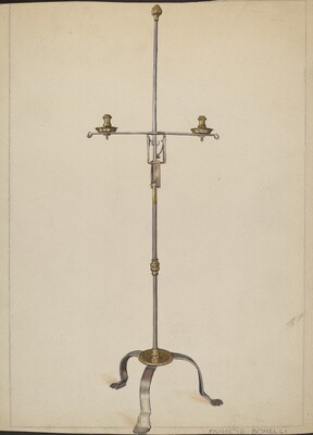Iron and Brass Candlestand