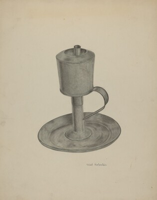 Pewter Grease Lamp