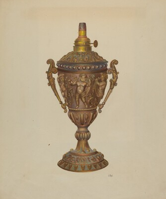 Ornamental Oil Lamp
