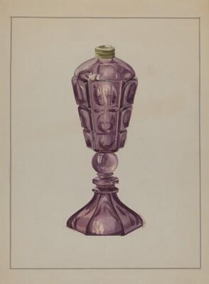 Amethyst Glass Oil Lamp