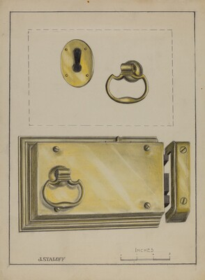 Lock Handle and Key Plate