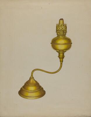 Combination Peg Lamp/Candleholder