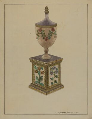 Wooden Mantel Ornament