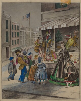 Colored Lithograph: New Year's Eve