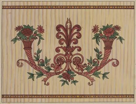 Decorative Panel from Rail Car Interior