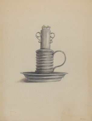 Tin Lard Lamp