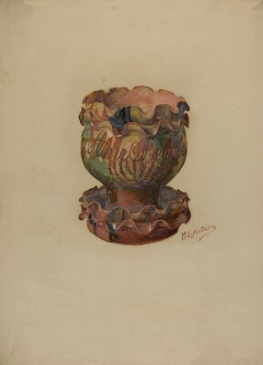 Pa. German Flower Pot and Tray