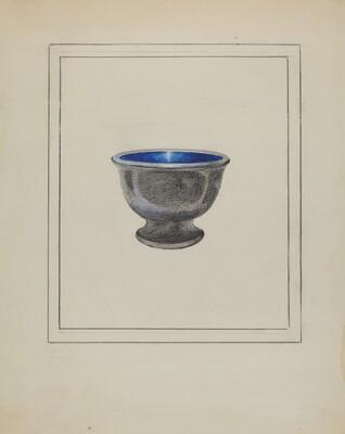 Pewter Salt or Sugar Bowl